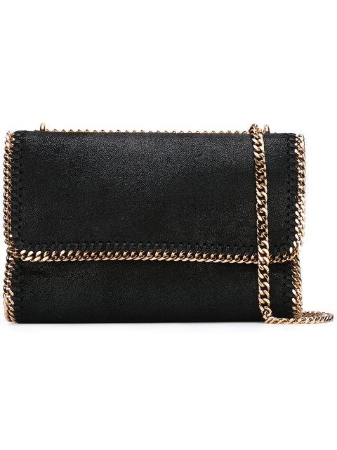 d44a397d50 Stella Mccartney Falabella Shaggy Deer Faux Leather Shoulder Bag - Black