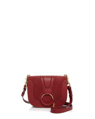 b9b35f662337d See By ChloÉ See By Chloe Hana Mini Suede   Leather Crossbody In Acerola