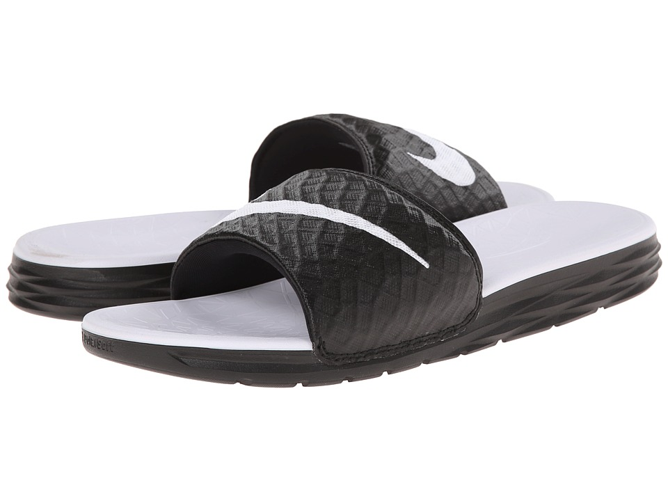 c58c0df3cb1b Nike - Benassi Solarsoft Slide 2 (Black White) Women S Slide Shoes ...