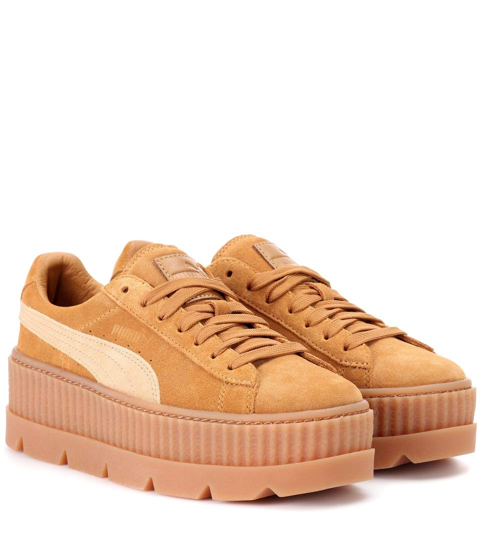 best loved 07430 1384a Fenty X Puma Cleated Creeper Suede Sneakers In Neutrals ...