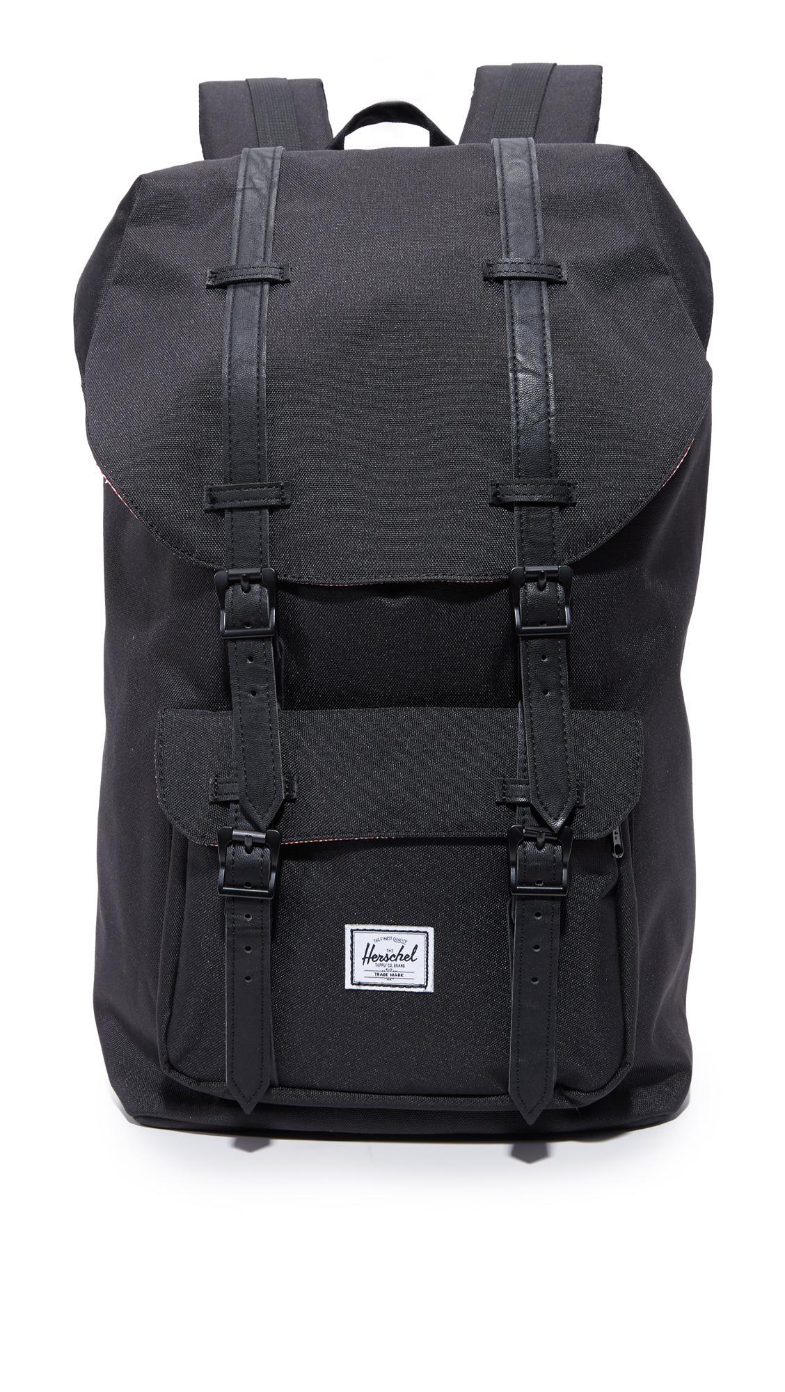 a38815834bf Herschel Little America Backpack Charcoal Crosshatch Black Insert Rubber