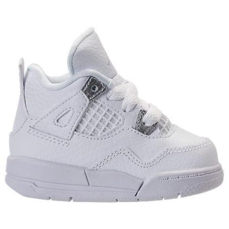 Boys' Toddler Jordan Retro 4 Basketball Shoes, White