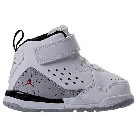 Boys' Toddler Jordan Flight Sc-3 Basketball Shoes, White