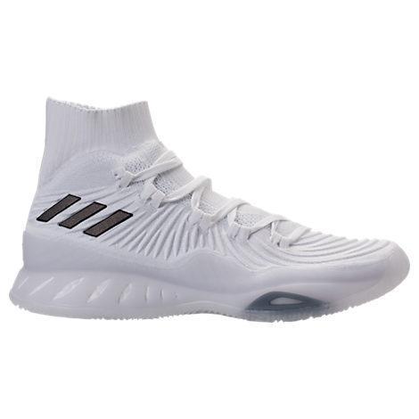 Men's Crazy Explosive 2017 Primeknit Basketball Shoes, White/black