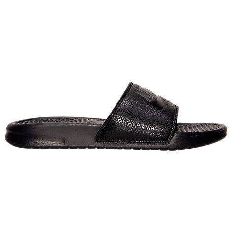 info for dfe79 8c1d6 Nike Men s Benassi Solarsoft Slide 2 Sandals From Finish Line In Black Black  Black