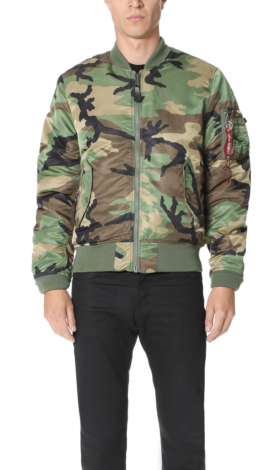 quality design 6434d 7a191 Ma-1 Slim Fit Jacket in Woodland Camo