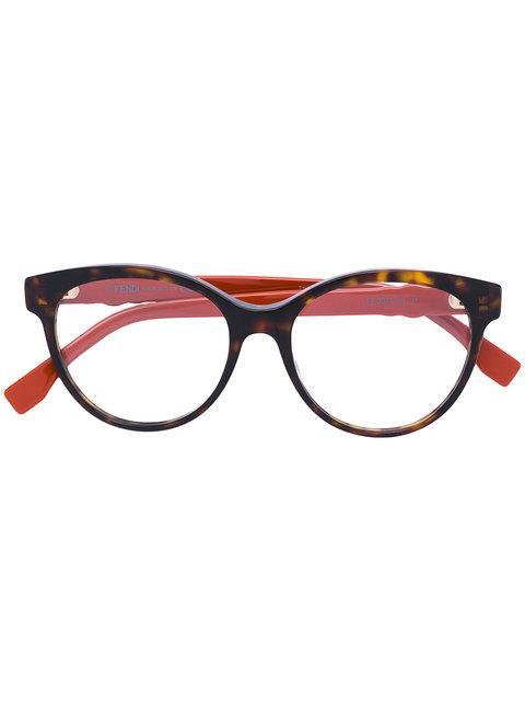 0b71d99de3b Fendi Eyewear Round-Frame Glasses With Studs - Black