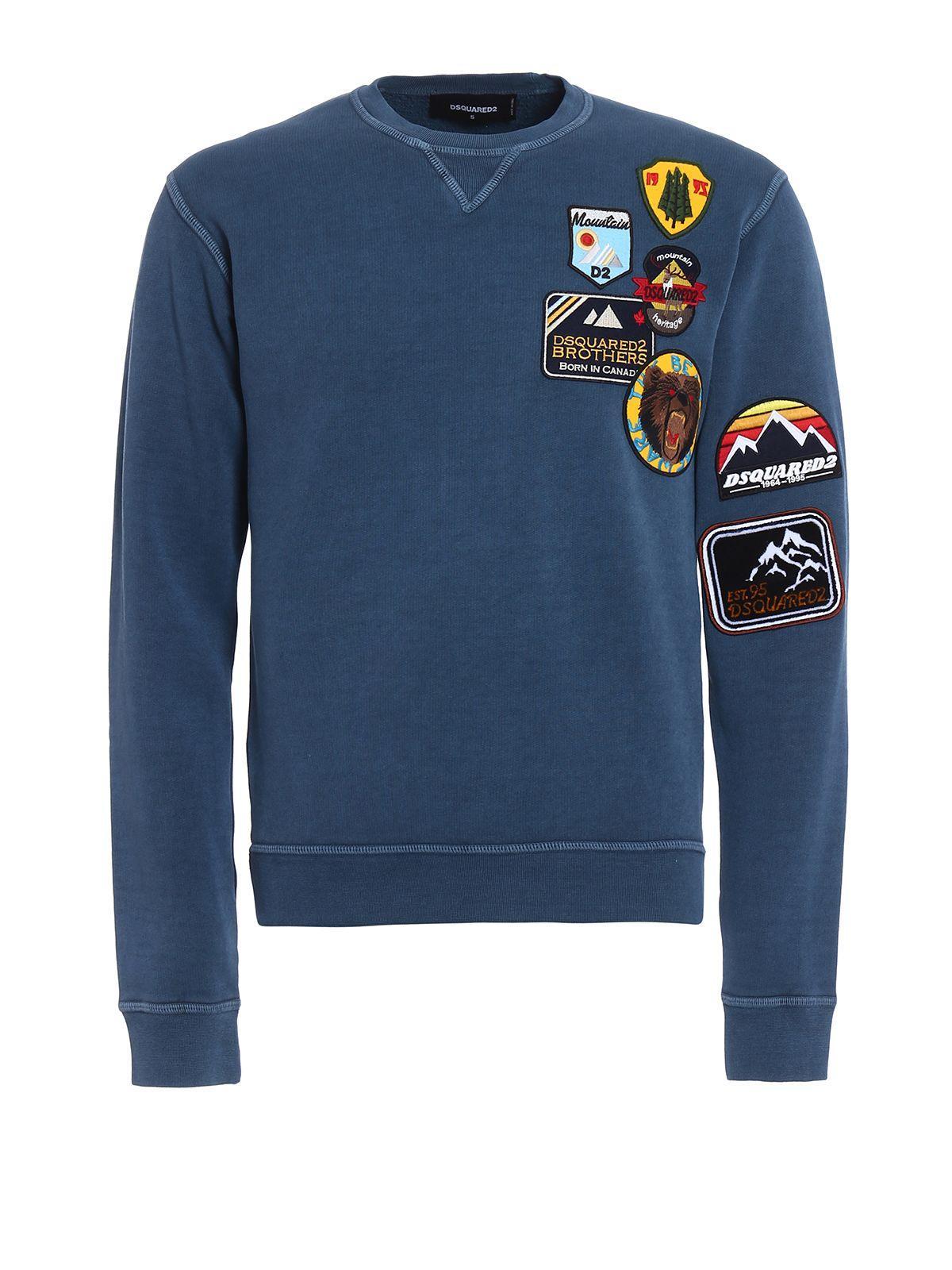 Dsquared2  Sweatshirt Long Sleeve NAVY Colour T-Shirt DSQUARED 2