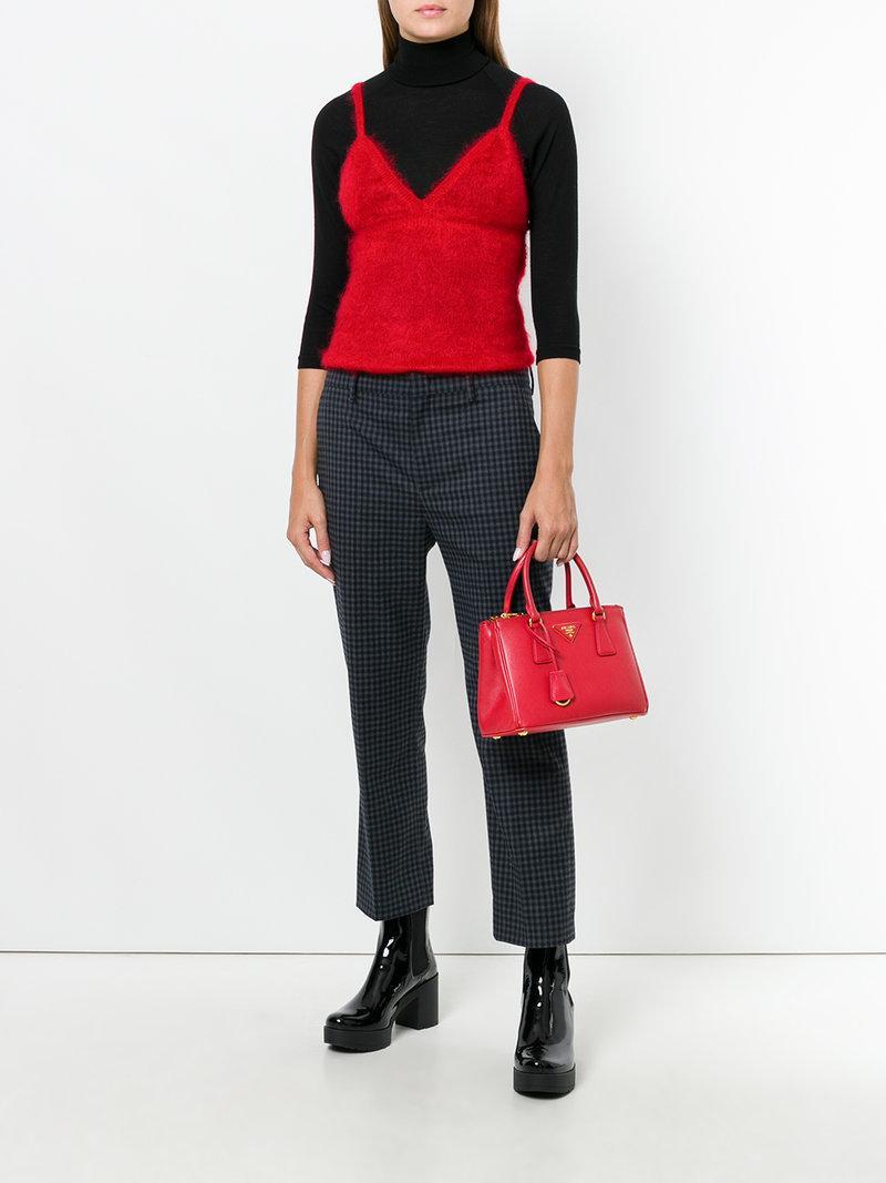 ffa4c9f6d769 Prada Mini Galleria Tote Bag - Red   ModeSens