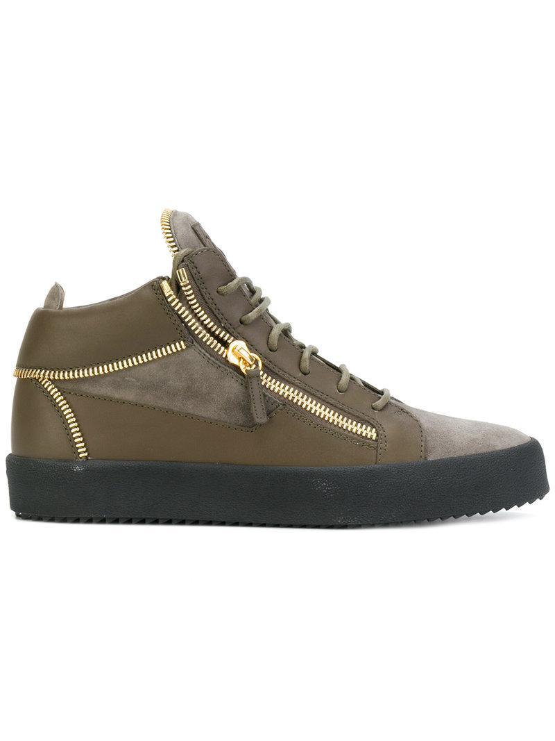 3eb506dc18b6e Giuseppe Zanotti Design Kriss Hi-Top Sneakers - Brown | ModeSens