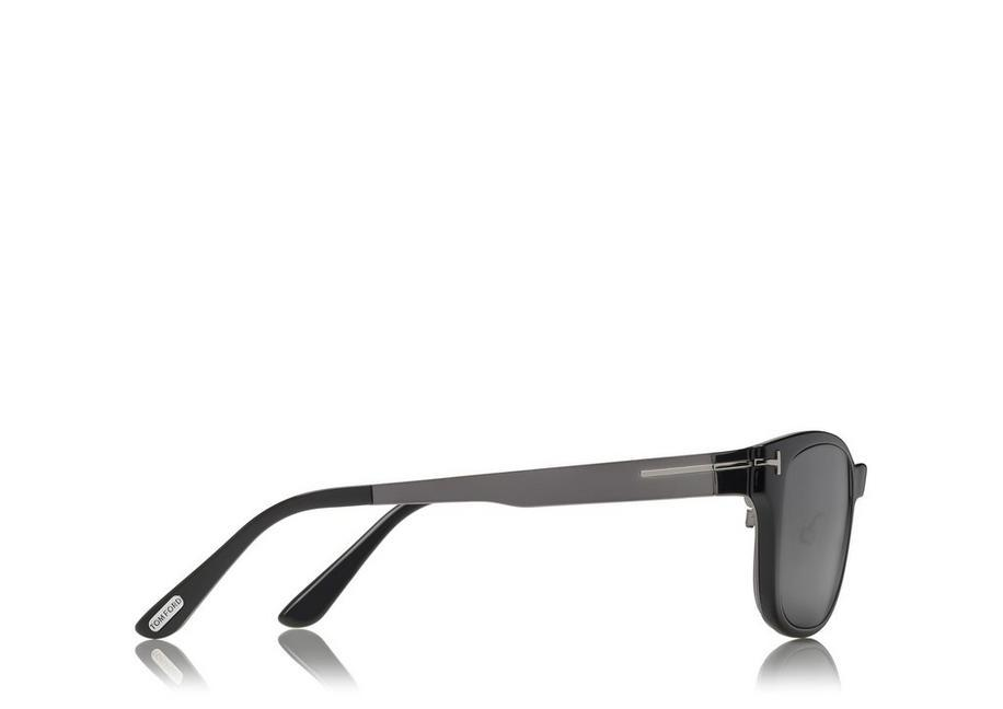 f4f8fac35e Tom Ford Soft Square Optical Frame With Magnetic Clip In Grey