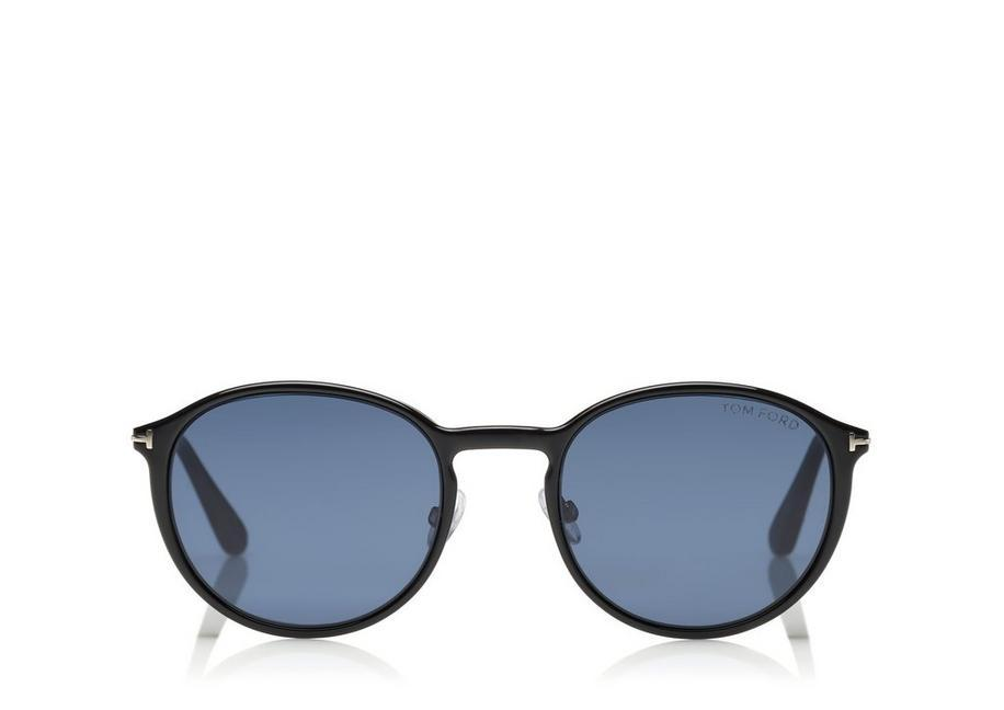7c4cb644c0 Tom Ford Soft Rounded Optical Frame With Magnetic Clip In Ruthenium Black