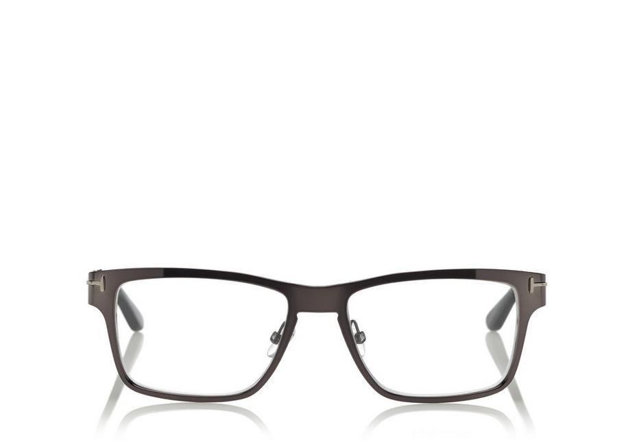 f2f92ea64c4 Tom Ford Soft Square Metal Optical Frame With Magnetic Clip In Ruthenium  Black
