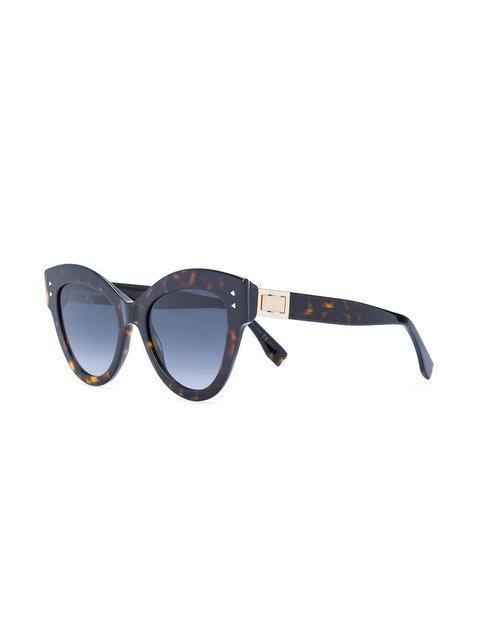 45f360707d Fendi Eyewear  Peekaboo  Sonnenbrille - Braun