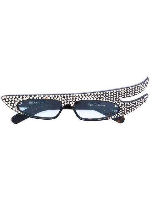 3671a4351c Gucci Eyewear Embellished Oversized Glasses - Black