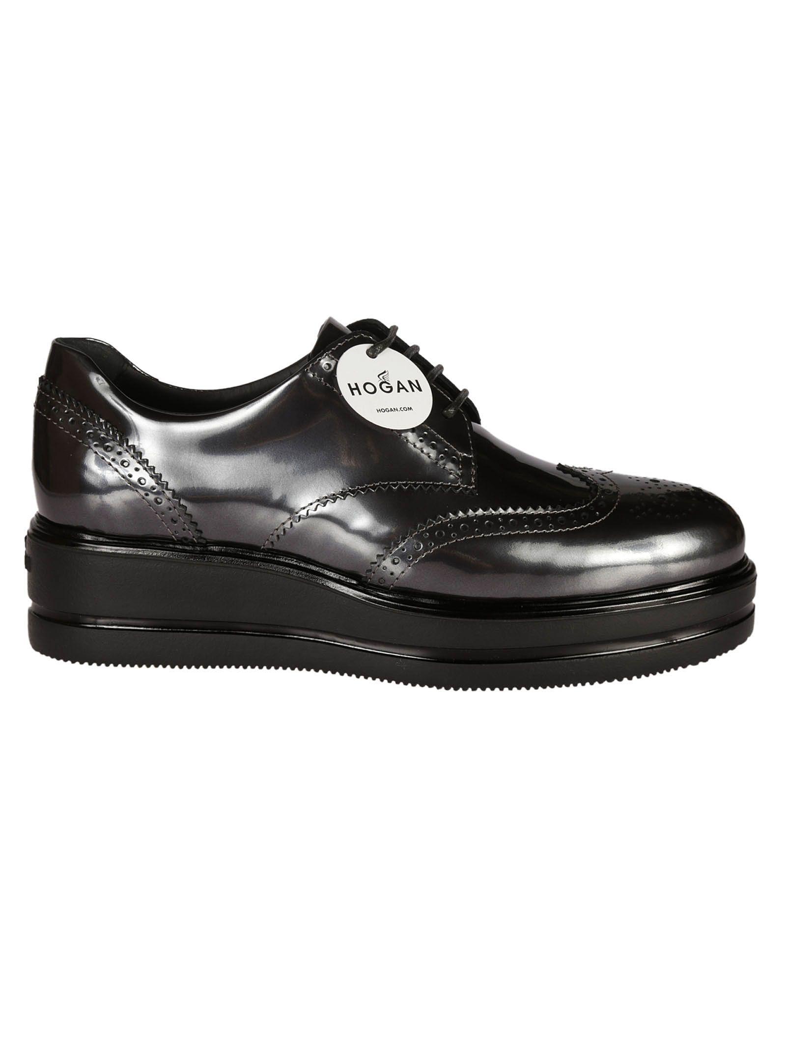 Hogan Francesina H323 Derby Shoes In Black   ModeSens