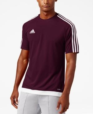Adidas Originals Adidas Men's Short-sleeve Soccer Jersey In Maroon ...