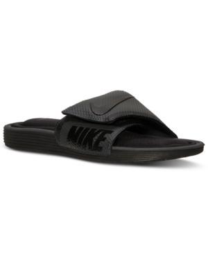 Men's Solarsoft Comfort Slide Sandals From Finish Line In Black/anthracite  1/1