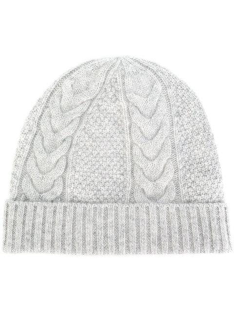 a187b5f5151 N.Peal Cable Knit Beanie - Grey
