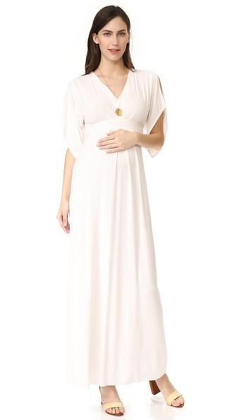3592b1a7c09be Ingrid & Isabel Kimono Maxi Dress In Ivory | ModeSens