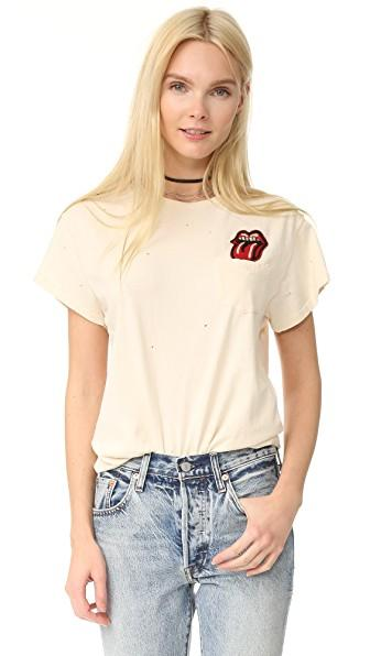 772e62bd6 Madeworn Rolling Stones Pocket Patch Tee In Dirty White | ModeSens