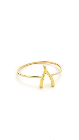 ae999ecea0b66c Jennifer Meyer Jewelry 18K Gold Mini Wishbone Ring   ModeSens