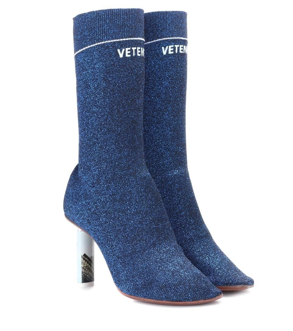pretty nice ebbef 757d7 90Mm Lighter Socks Lurex Ankle Boots in Blue,Metallics