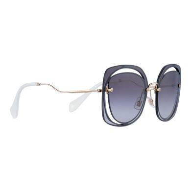 a39542c34d0a Miu Miu Scenique Cut-Out Eyewear In Gradient Smoky Gray Lenses ...