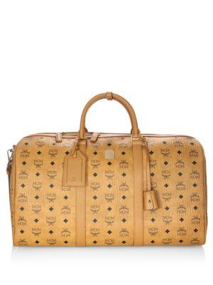 d948beb95a Mcm Large Voyager Visetos Traveler Weekender In Brown