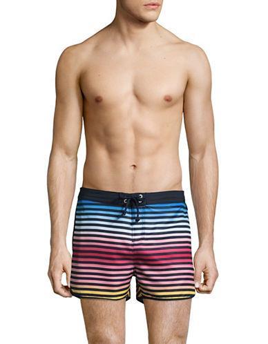 3e71a9a1ac Original Penguin Ombre Striped Volley Swim Shorts-Blue   ModeSens