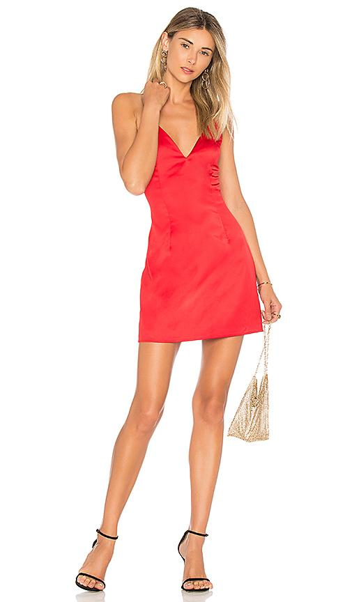 40bc6414b0de By The Way. Kacie Satin Mini Dress In Red.
