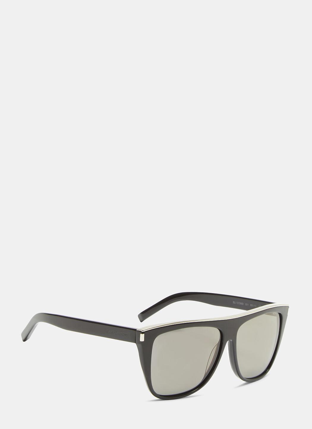 0f4621f8d405 Saint Laurent New Wave Sl 1 Sunglasses In Black   ModeSens