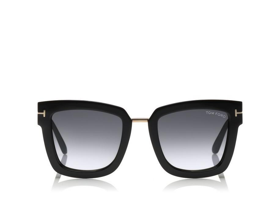 a066beff0dd Tom Ford Lara 52Mm Mirrored Square Sunglasses - Black Acetate  Rose Gold