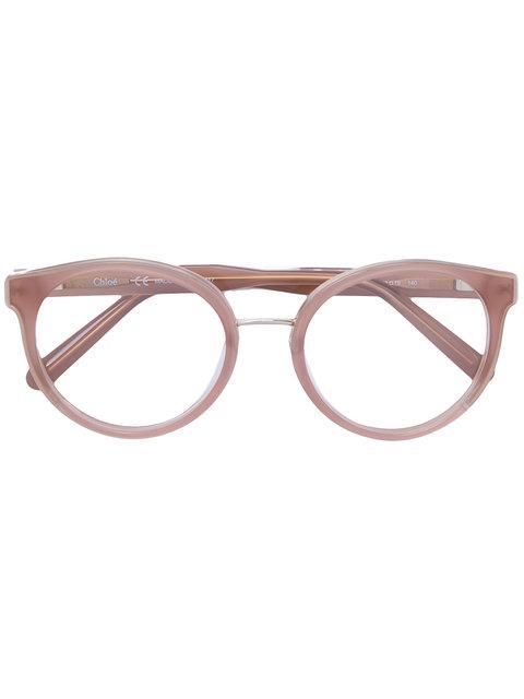 c8ea5a45 Chloé Eyewear Round Frame Glasses - Neutrals