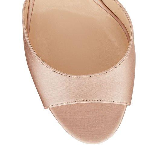 57d0d1dcd Jimmy Choo Annie 85 Dusty Rose Satin Peep Toe Sandals
