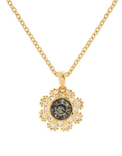 92e658b67 Ted Baker Crystal Daisy Lace Pendant Necklace In Jet | ModeSens