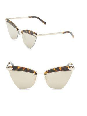 1c48ceb8b0f9 Karen Walker Sadie Cat-Eye Mirrored Geo Sunglasses