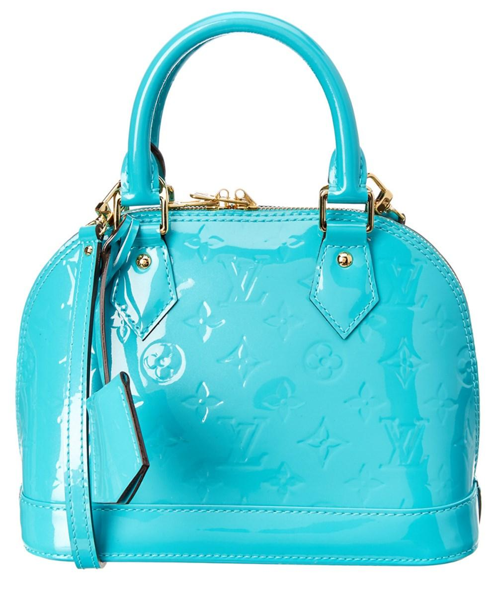 Louis Vuitton Blue Monogram Vernis Leather Alma Bb In No Color Modesens