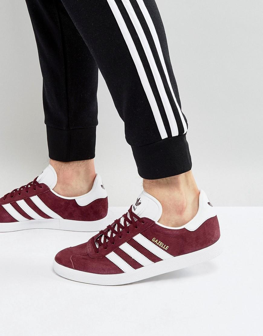 Gazelle Sneakers In Burgundy Bb5255-red