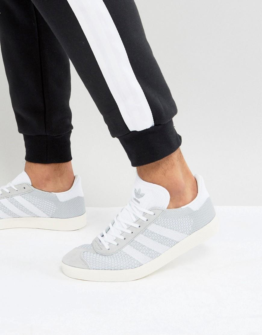 Adidas Originals Gazelle Prime Knit Sneakers In Gray Bb2751 - Gray ...