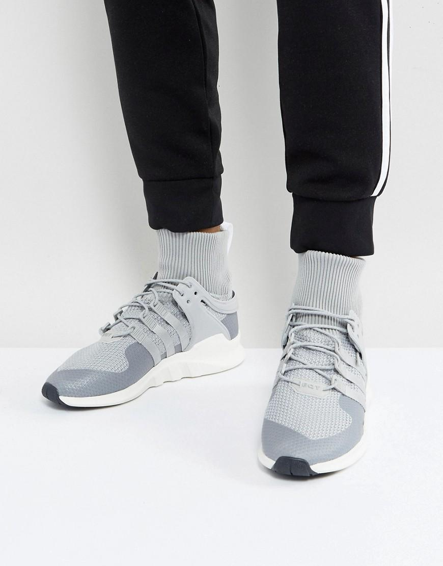 brand new e2a5f 4b285 Adidas Originals Eqt Support Adv Winter Sneakers In Gray Bz0641 - Gray