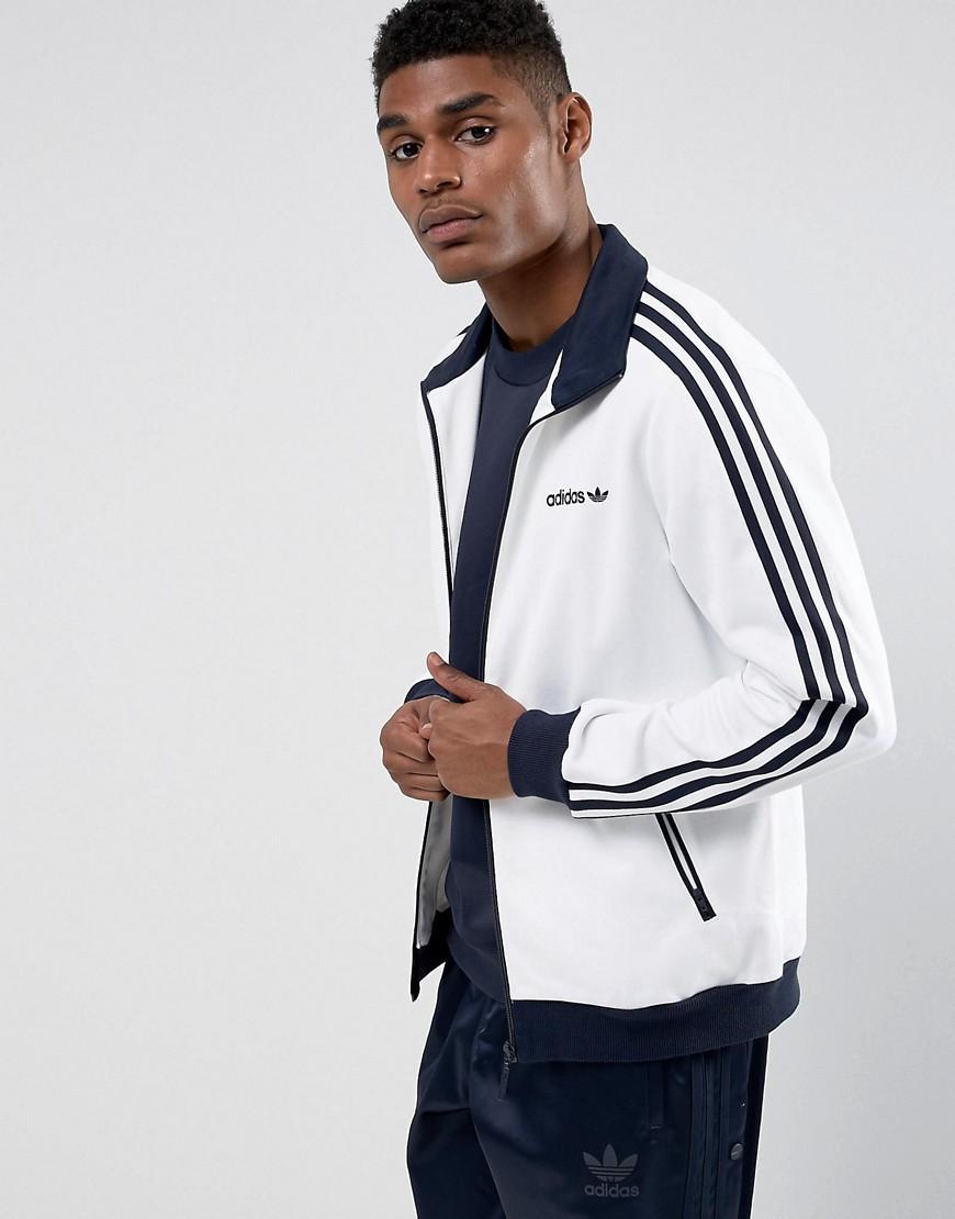solicitud Actriz asentamiento  Adidas Originals Beckenbauer Track Jacket In White Br4222 - White | ModeSens