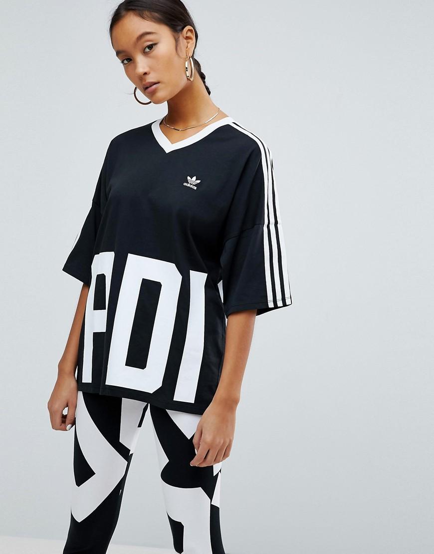 adidas originals v neck t shirt