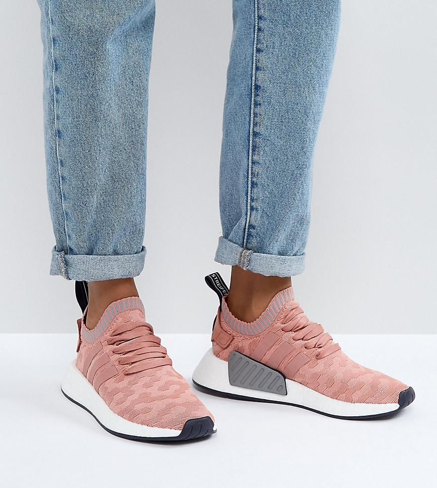 Nmd R2 Prime Knit Sneakers In Pink
