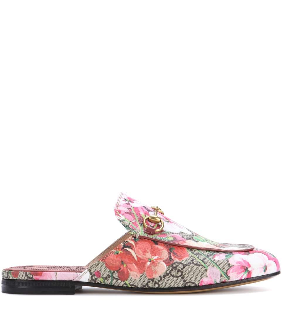 Gucci Leather Gg Princetown Slippers In Leige Eloey