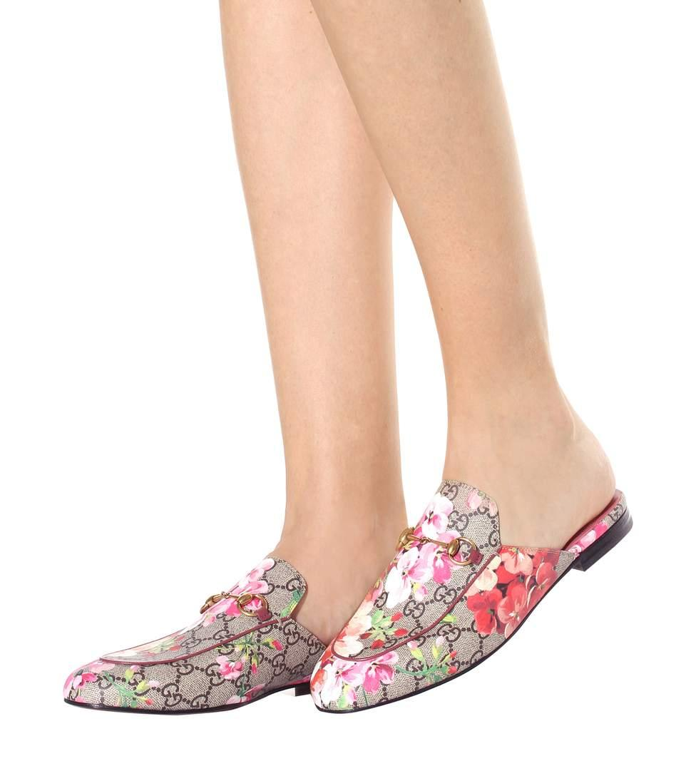 GUCCI Princetown GG Blooms slippers,P00294579
