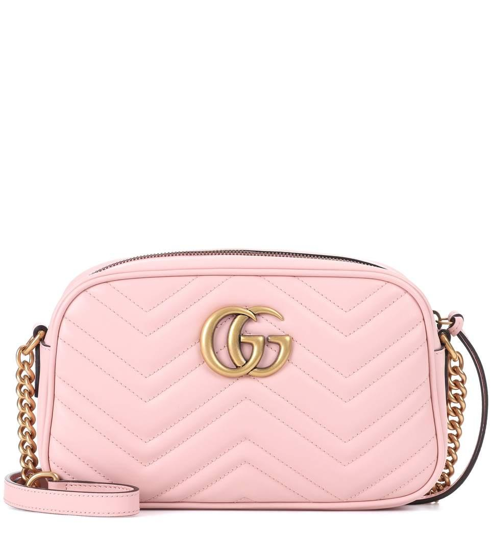 3abea07f632d Gucci Gg Marmont Leather Crossbody Bag In Pink