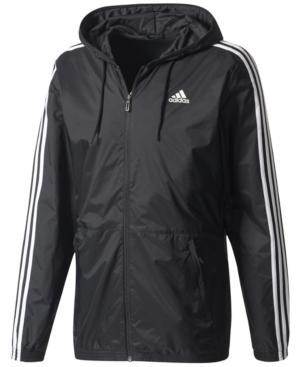f56a2cd9b413 Adidas Originals Adidas Men s Three-Stripe Windbreaker In Black ...