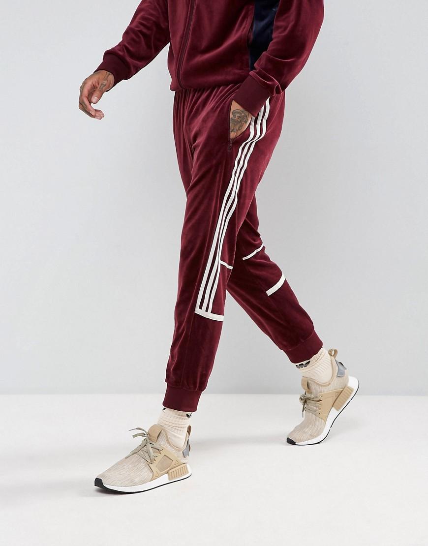 adidas originals challenger velour track pants