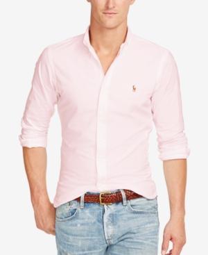 213b55b5d Polo Ralph Lauren Slim-Fit Stretch-Oxford Shirt In Pink